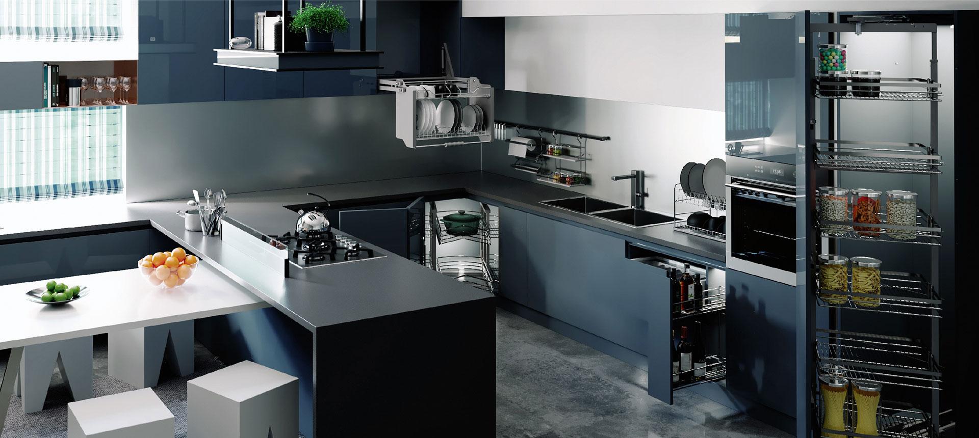 vzorová kuchyně drátěného programu Starax